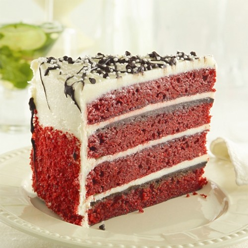 4 high red velvet cake