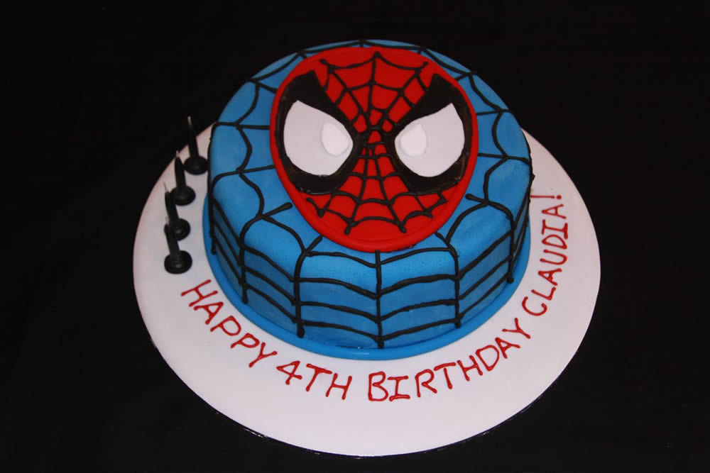 9 inch round spiderman cake big