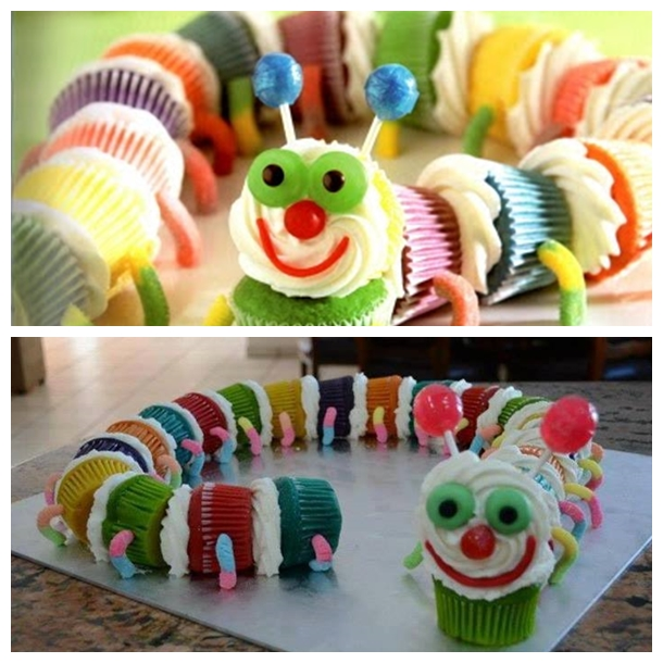Caterpillar Cupcakes F