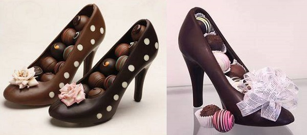 Chocolate High Heel Shoe Milk 2
