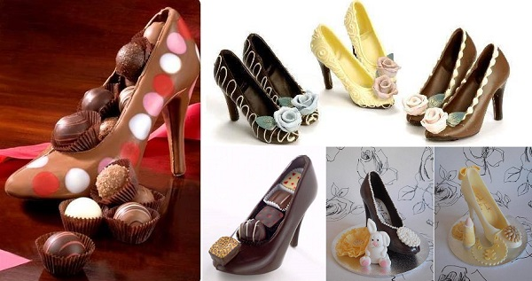Chocolate High Heel Shoe Milk 3