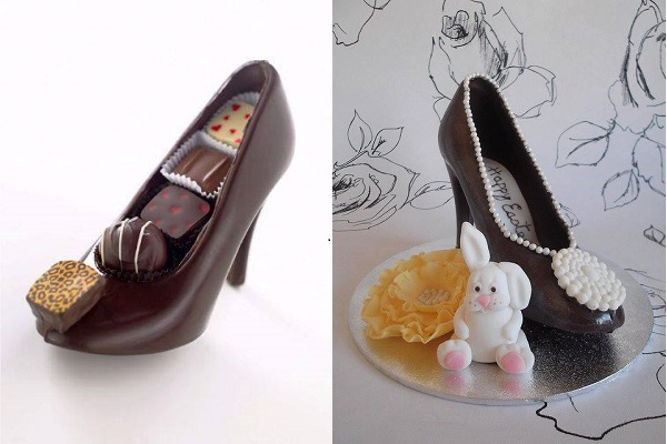 Chocolate High Heel Shoe Milk 5