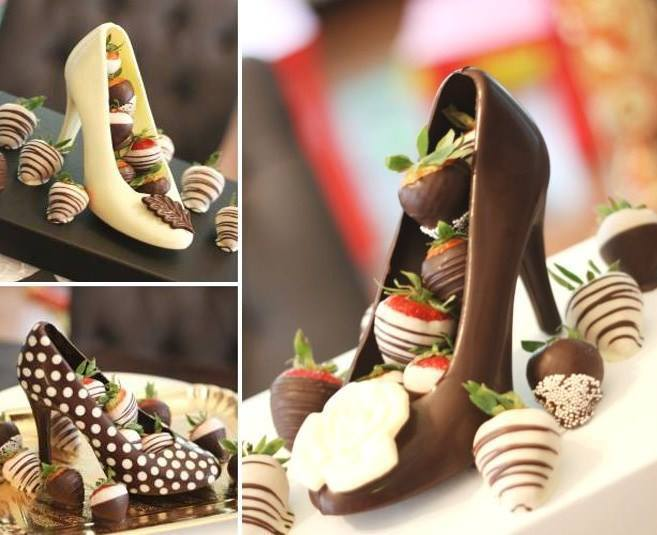 Chocolate High Heel Shoe Milk