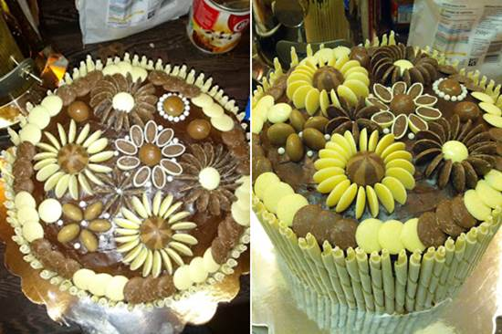 Creative Chocolate Button Cakes DIY Ideas 2