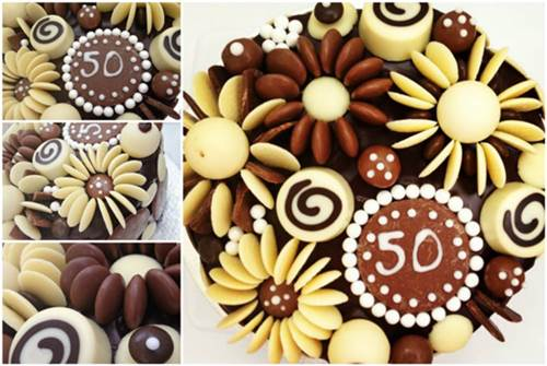 Creative Chocolate Button Cakes DIY Ideas 3