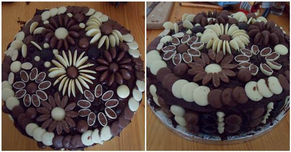 Creative Chocolate Button Cakes DIY Ideas ttt1