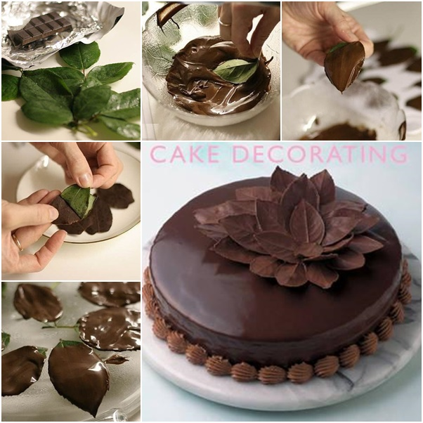diy wedding cake decor how to diy chocolate leaf for cake decorating 13629