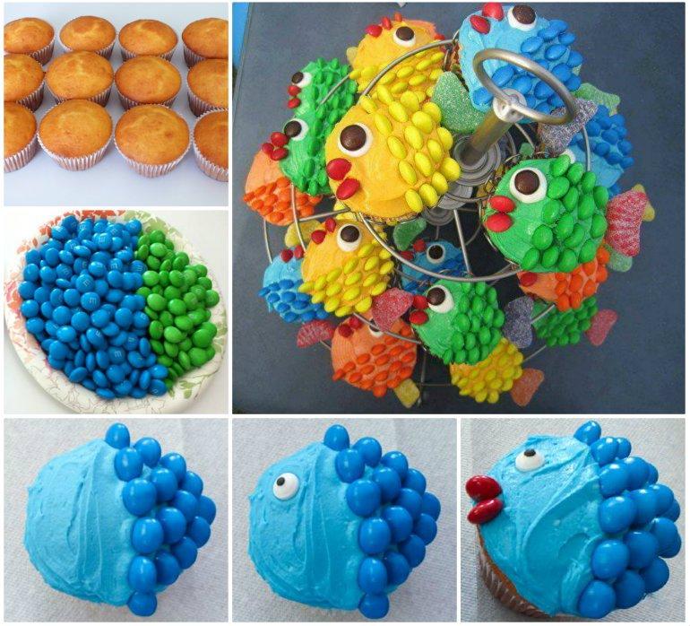Fish Cupcakes DIY
