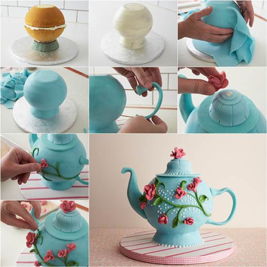 Making A Teapot Shaped Cake