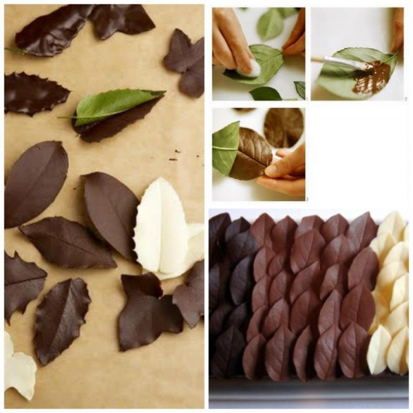 How to DIY Chocolate Leaf for cake decorating
