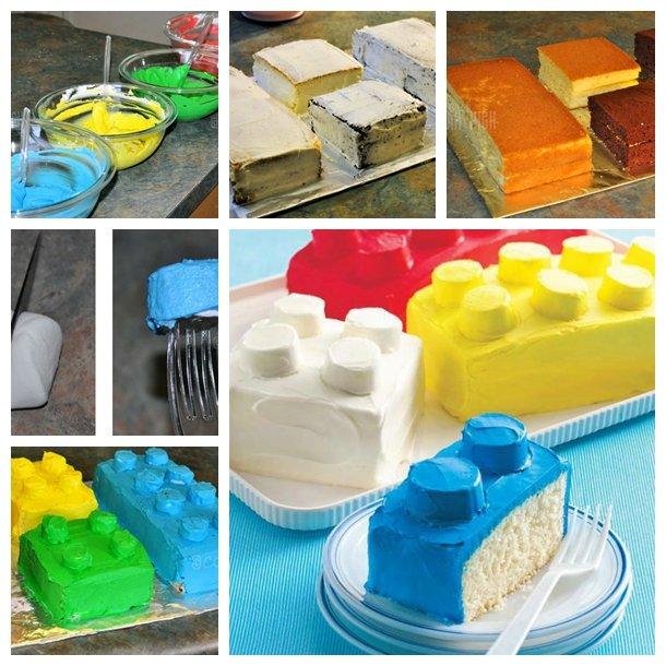 Diy Cool Lego Block Cake