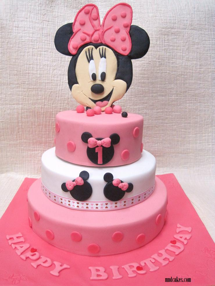 Minnie Mouse 2 Tiered Fondant Cake