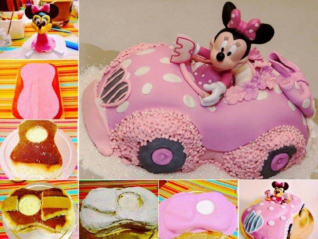 Minnie Mouse Car Cake e1444015143994