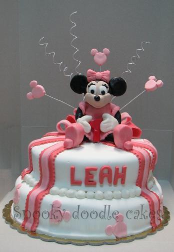 Minnie mouse cake design