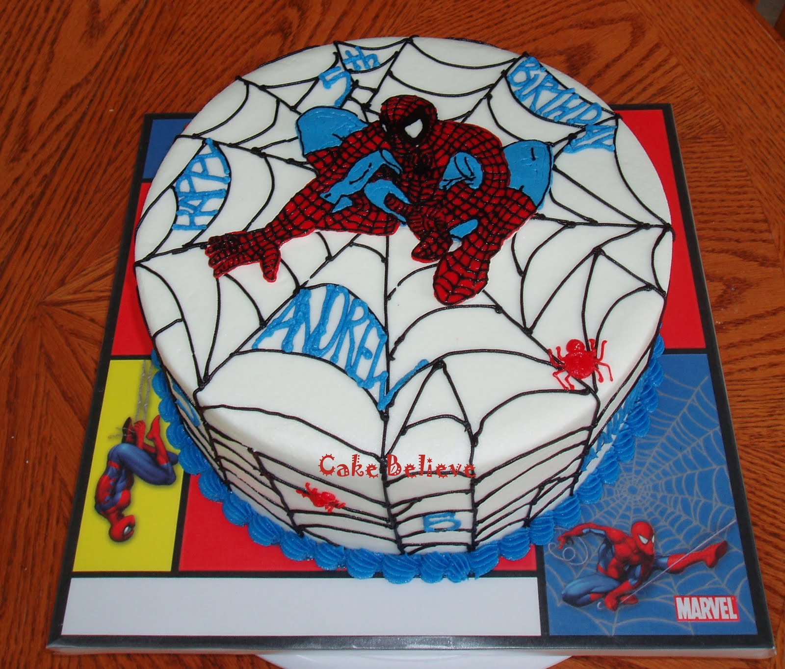 Spiderman Birthday Cake Designs