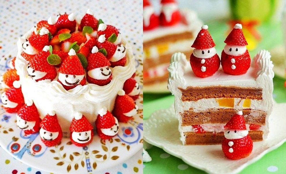 Strawberry-Santa-Cake