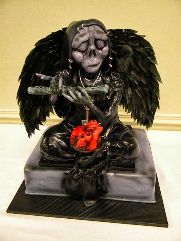 Weird Creepy Spooky and Scary Halloween Cakes Angel of Death