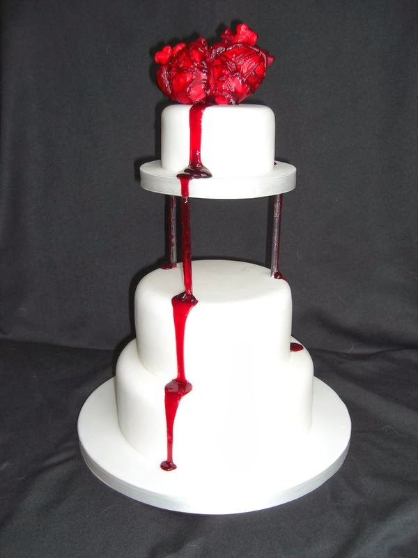 Weird Creepy Spooky and Scary Halloween Cakes Bleeding Hearts
