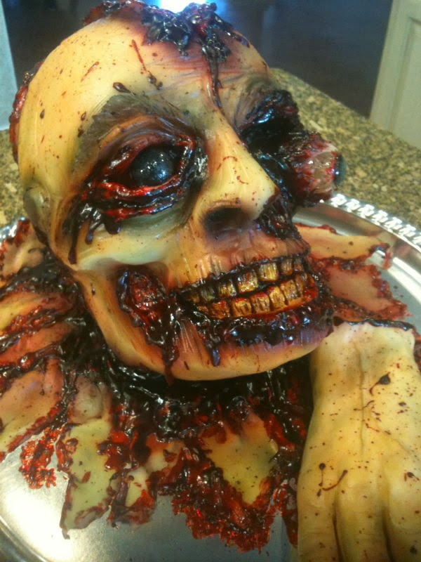 Weird Creepy Spooky and Scary Halloween Cakes OFF With His Head