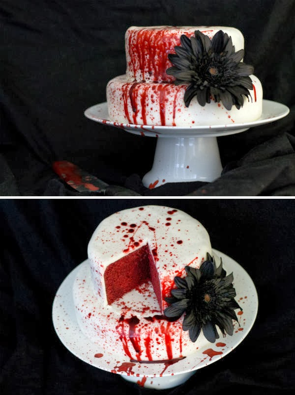 Weird Creepy Spooky and Scary Halloween Cakes Red Velvet Slaughter