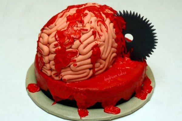 Weird Creepy Spooky and Scary Halloween Cakes gross brain