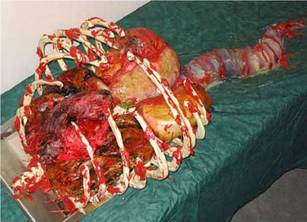 Weird Creepy Spooky and Scary Halloween Cakes thorax