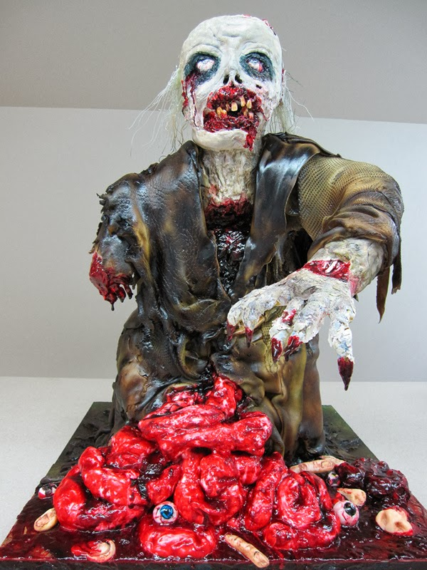 Weird Creepy Spooky and Scary Halloween Cakes zombie