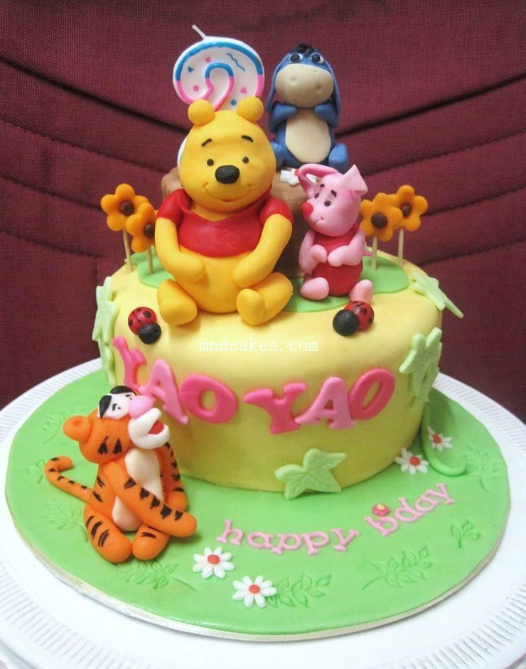 Winnie The Pooh And Friends Birthday Cake For 2 Year Old