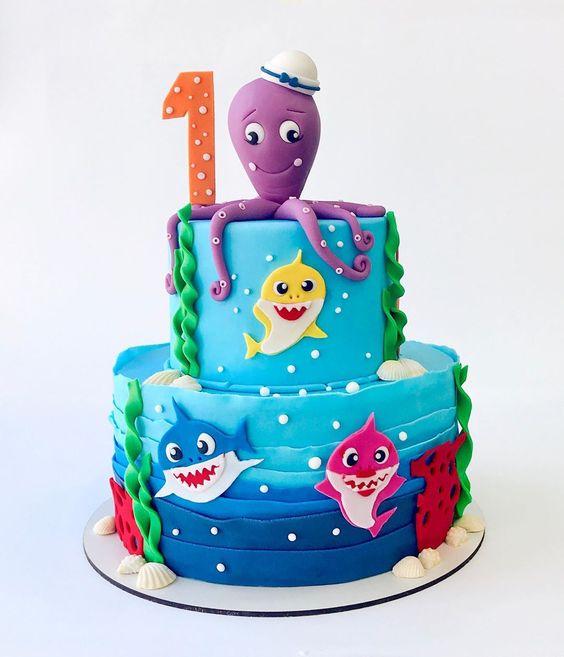 amazing baby shark cakes 7