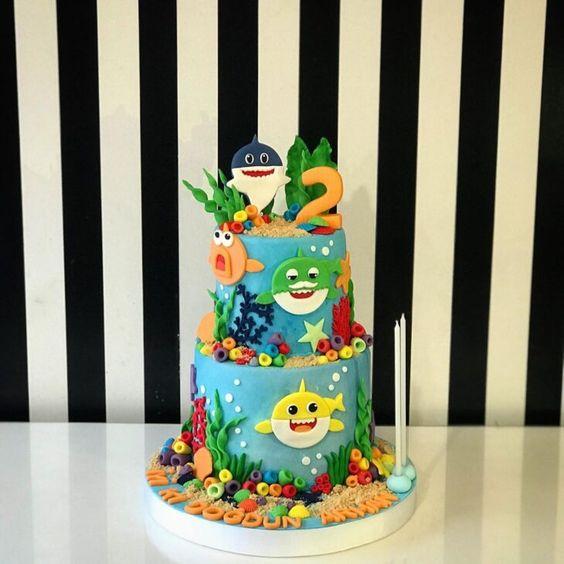 amazing baby shark cakes 8