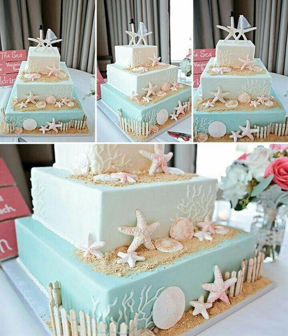 beach wedding cake ideas 1