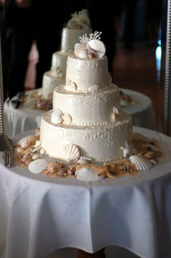 beach wedding cake ideas 10