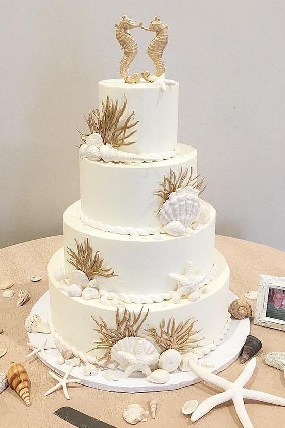 beach wedding cake ideas 11