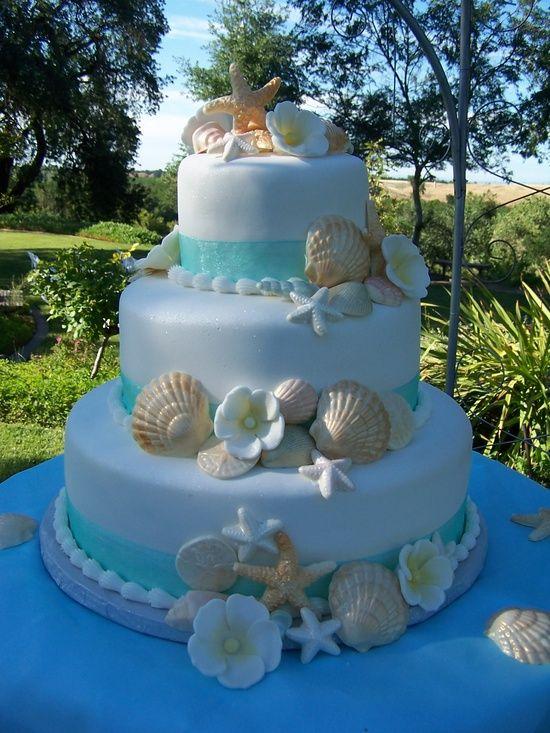 beach wedding cake ideas 12