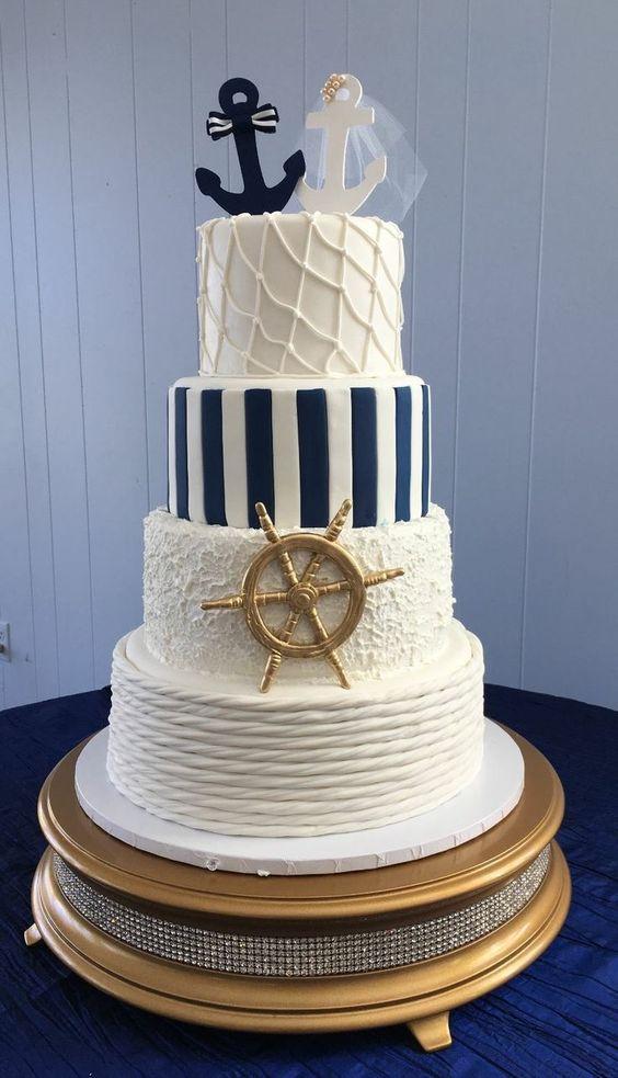 beach wedding cake ideas 13