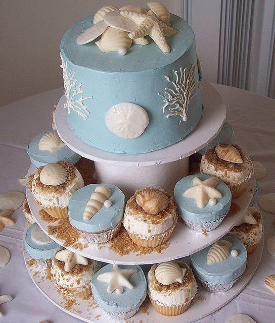 beach wedding cake ideas 3