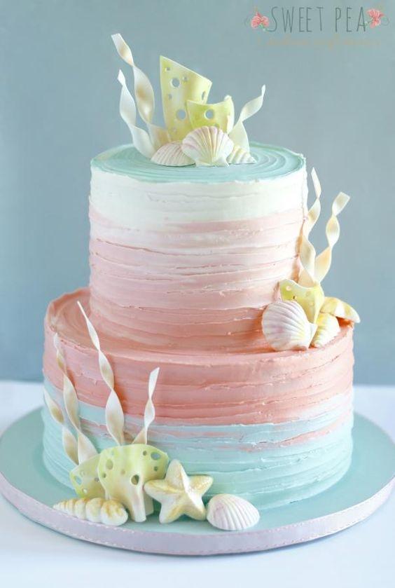 beach wedding cake ideas 4