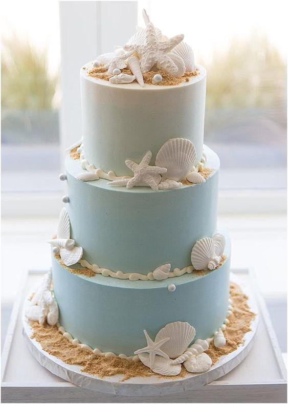 beach wedding cake ideas 8
