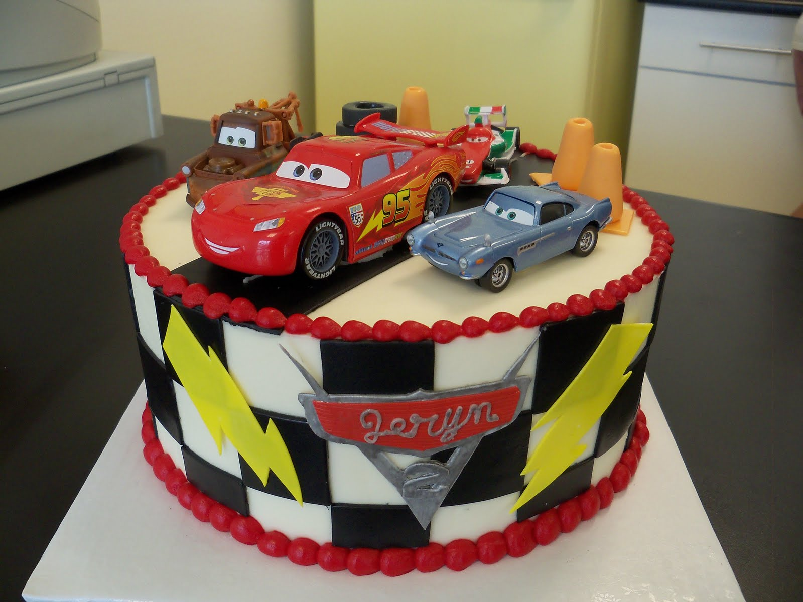 race car birthday cake boy birthday cake 6938