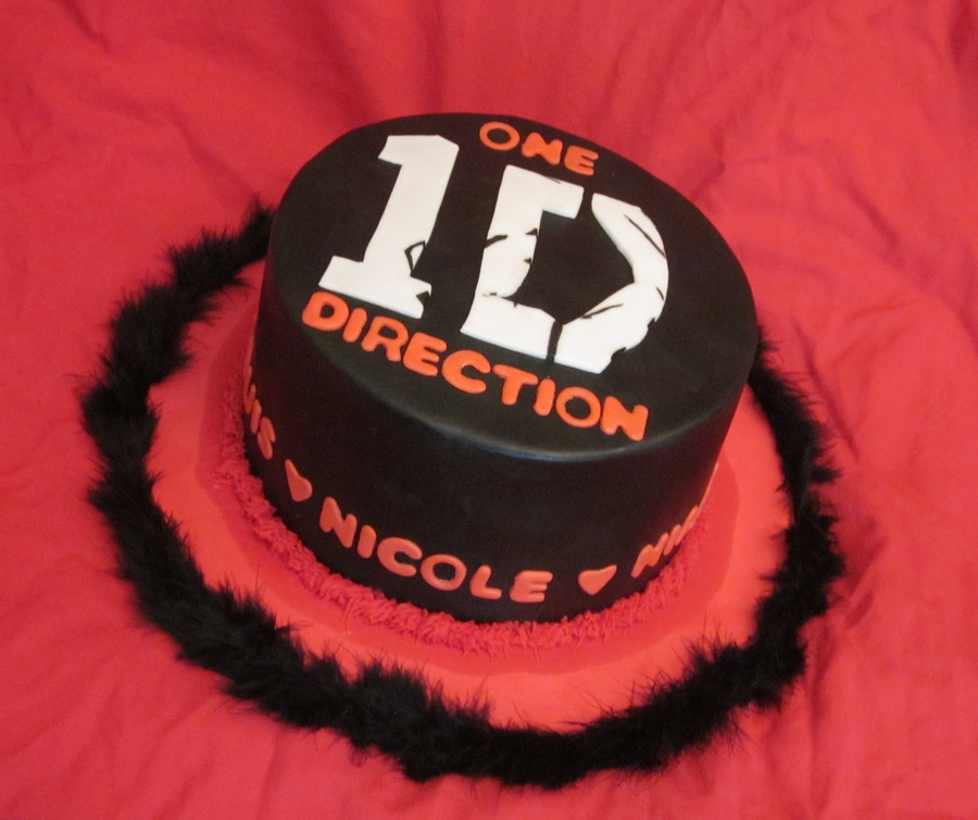 birthday one direction cake