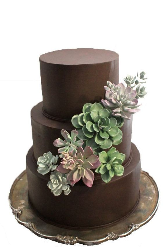 cake decorated with succulents 5 Copia