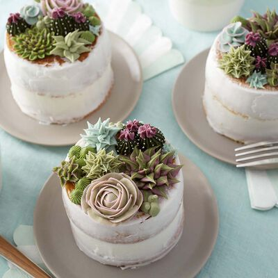 cake decorated with succulents 8 Copia