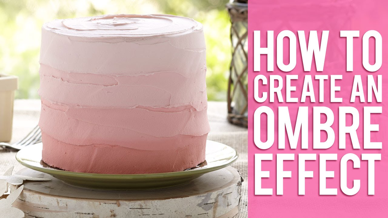 Create an Ombre Effect with Buttercream and Fondant