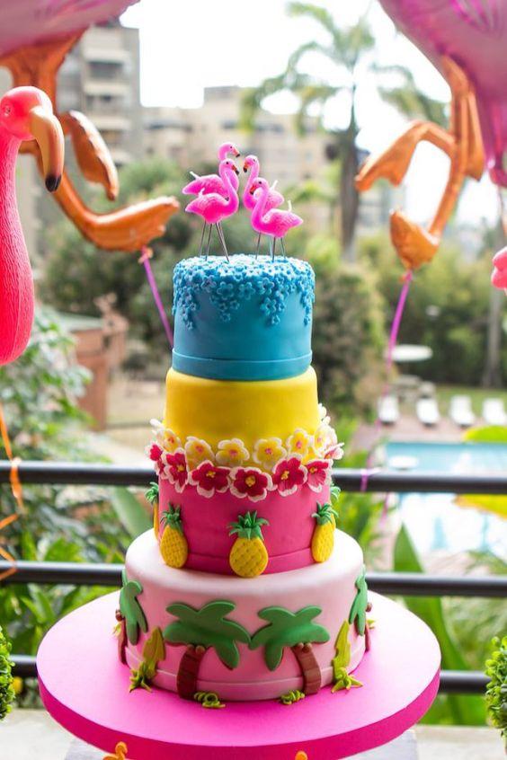 cakes hawaiian party ideas 1