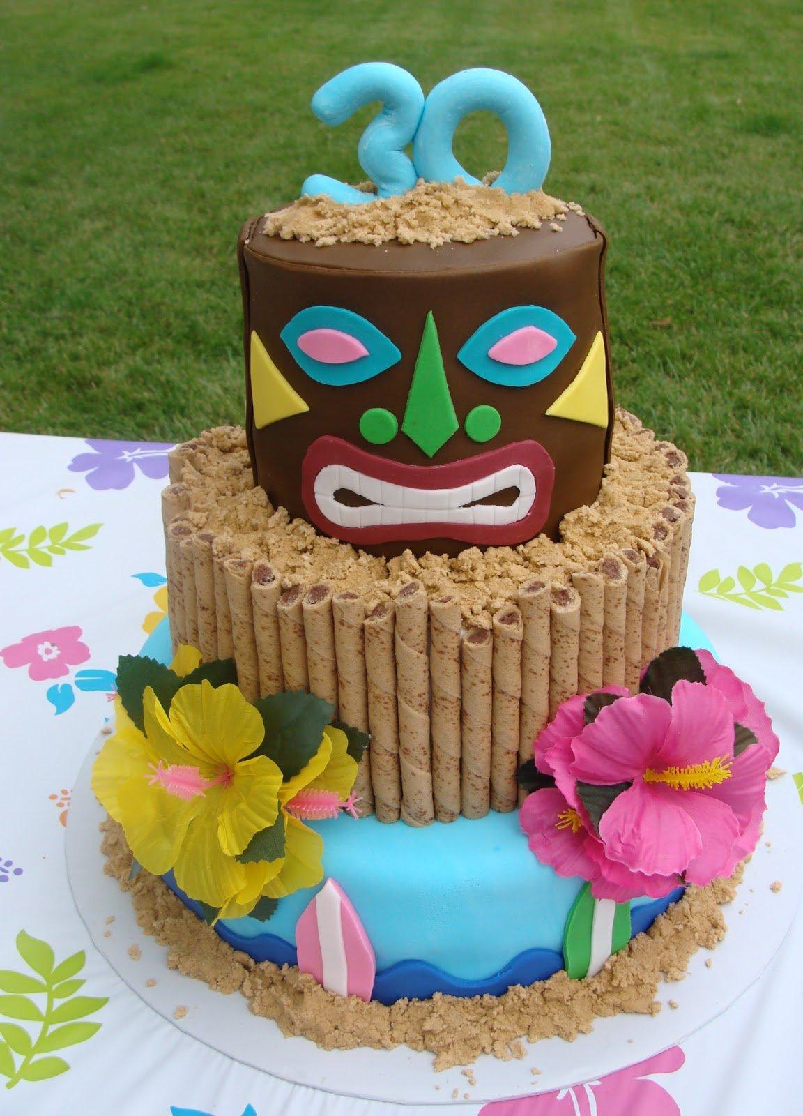 cakes hawaiian party ideas 11
