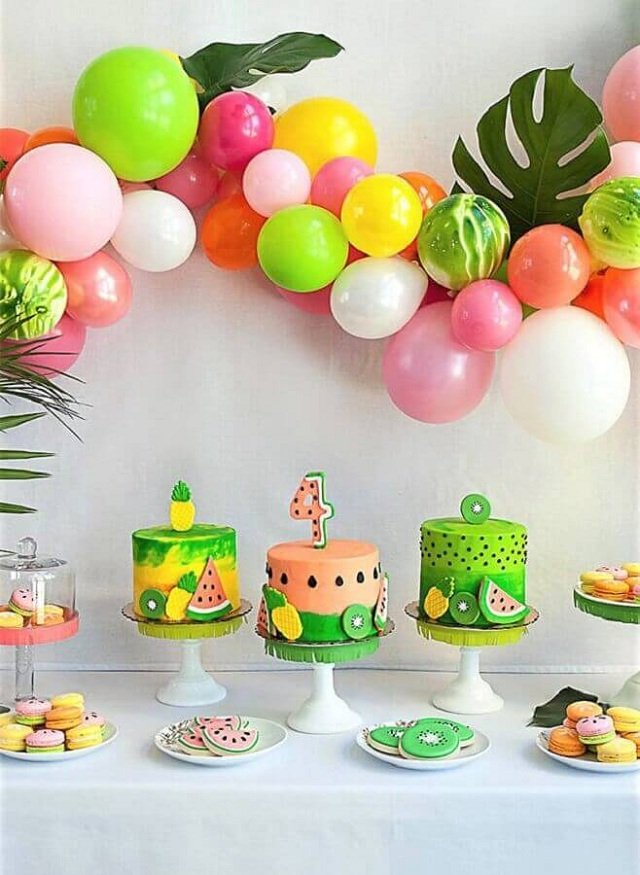 cakes hawaiian party ideas 12