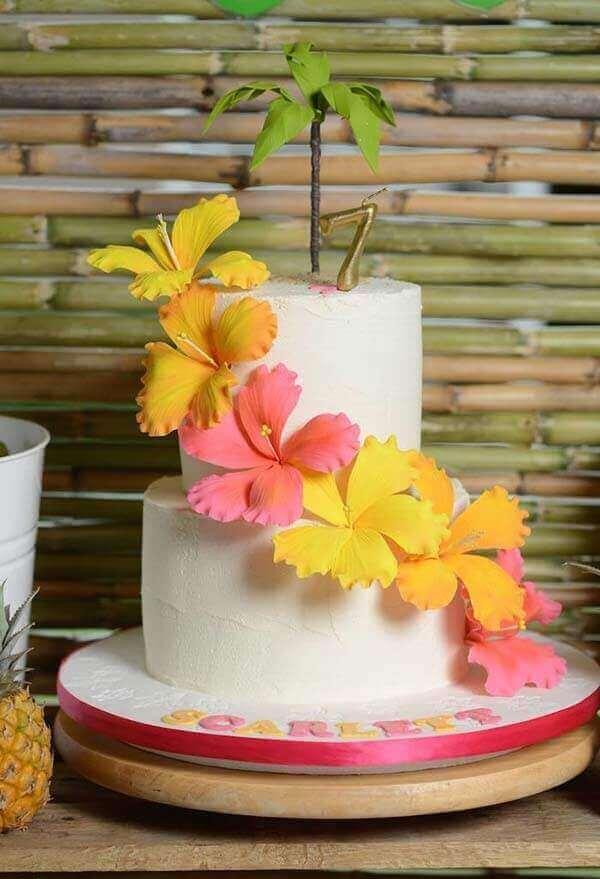 cakes hawaiian party ideas 14