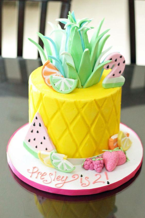 cakes hawaiian party ideas 16