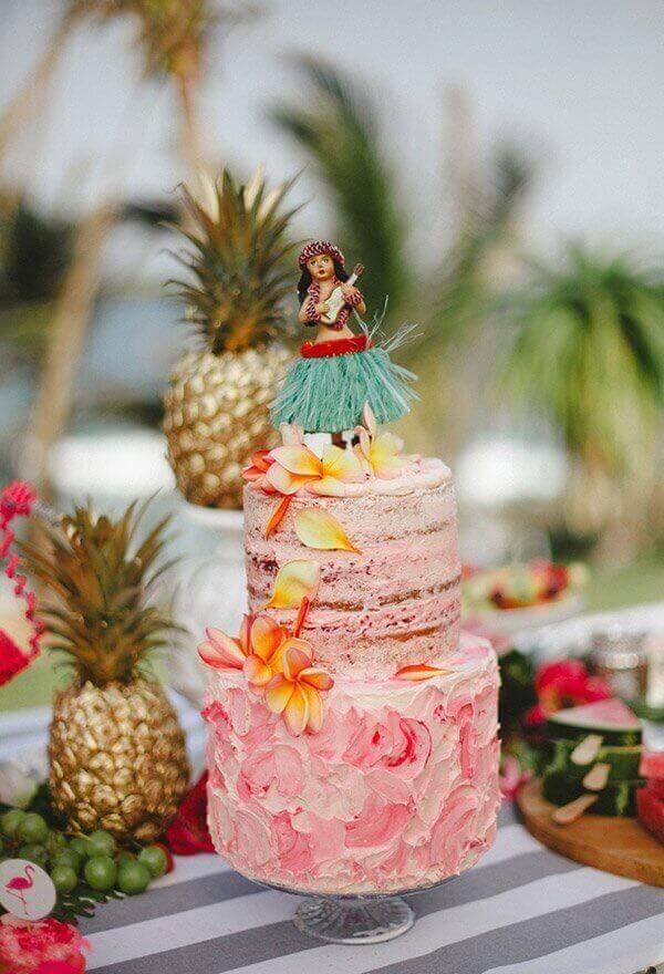 cakes hawaiian party ideas 17