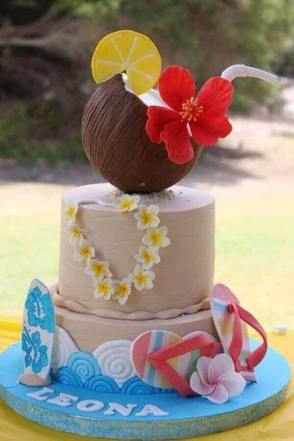 cakes hawaiian party ideas 18